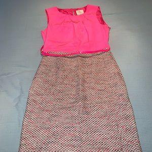 Kate Spade silk/tweed combo work dress